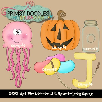 Letter J Early Learning Clipart