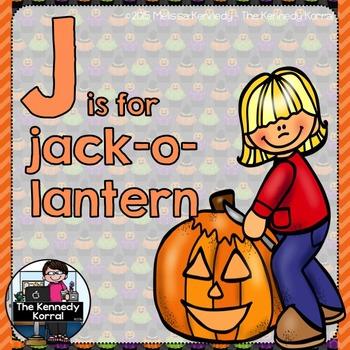 Letter J is for Jack-o-lantern {Halloween}