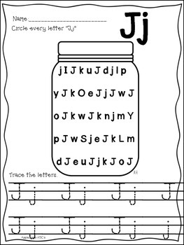 Letter J {Letter of the Week}