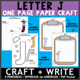 Letter J One Page Paper Crafts - Juice and Jester