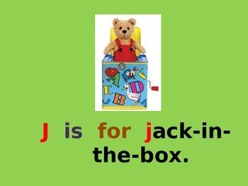 Letter J PowerPoint