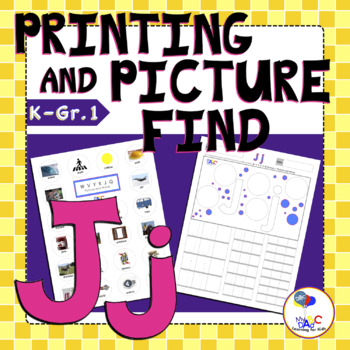 Letter Jj Printing and Picture Find Worksheets