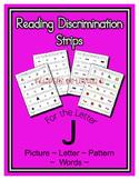 Letter J Reading Discrimination Strips for Fluency and Alp