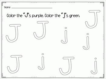 Letter Learners: Letter J