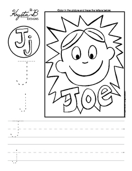 Letter J Trace and Write Worksheet Pack