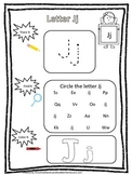 "Letter ""J"" Trace it, Find it, Color it.  Preschool printable worksheet. Daycare."