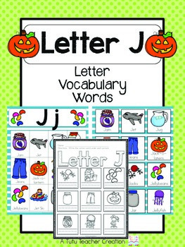 Letter J Vocabulary Cards By The Tutu Teacher Teachers