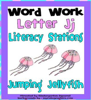 Letter J Word Work Literacy Station Pack