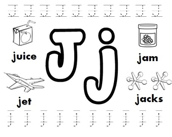 Letter J Worksheets By Kindergarten Swag  Teachers Pay Teachers Letter J Worksheets