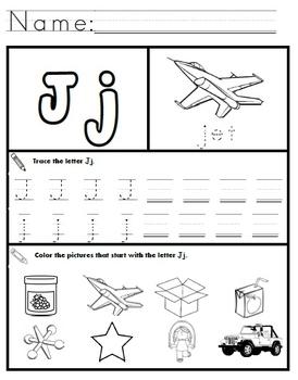 Letter J Worksheets!