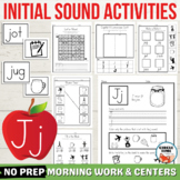 Letter J Worksheets, Letter J Activities, Initial J Words,