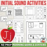 Letter J Worksheets, Letter J Activities, Initial J Words,