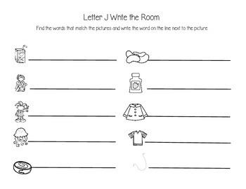 Letter J Write the Room