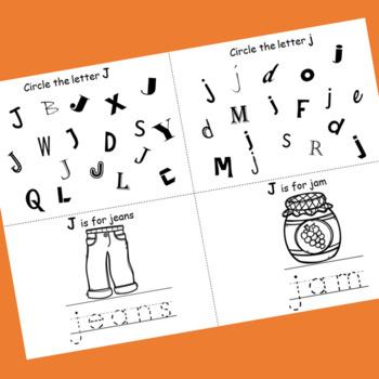Letter J booklet