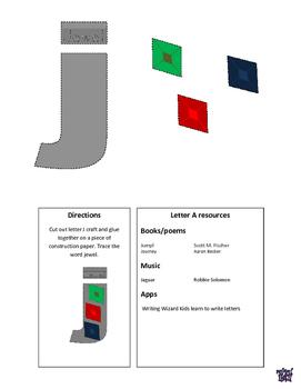 Letter J cutout craft