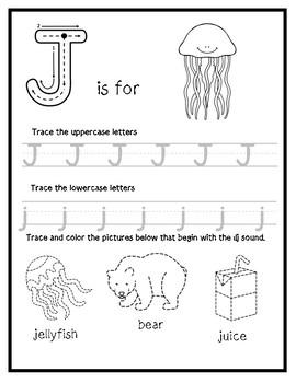 Letter J from the Alphabet Mega Bundle/Letter of the Week