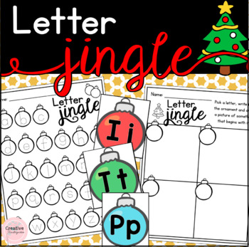 Letter Jingle! Christmas Alphabet Literacy Center (FRENCH version included)