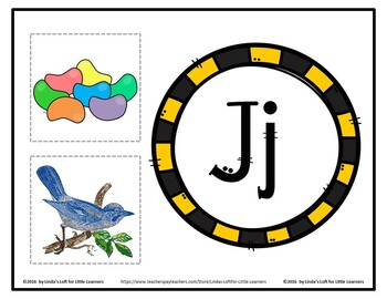 Letter Jj Beginning Sound Picture Web Activity