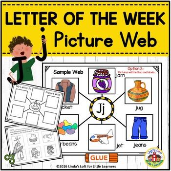 Letter Jj Beginning Sound Picture Web Activity