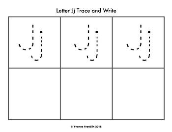 Letter Jj Color, Trace & Write the Room