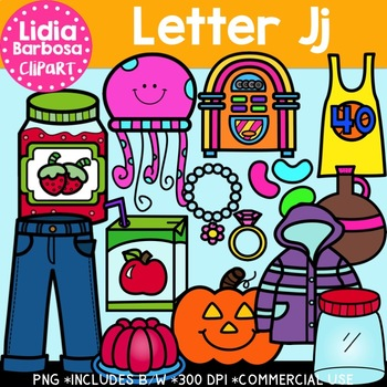 Letter Jj Digital Clipart
