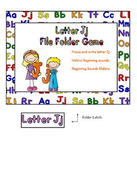 Letter Jj File Folder Game