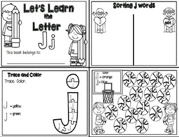 Letter Jj- Interactive Activities Booklet