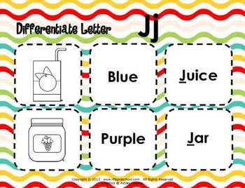 Letter Jj Language & Literacy Activity Center {COMMON CORE ALIGNED}