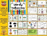Letter Jj Language & Literacy Activity Center {COMMON CORE