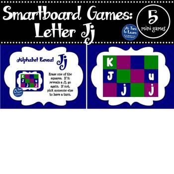 Letter Jj Smartboard Games (5 mini games) (Smartboard/Promethean Board)