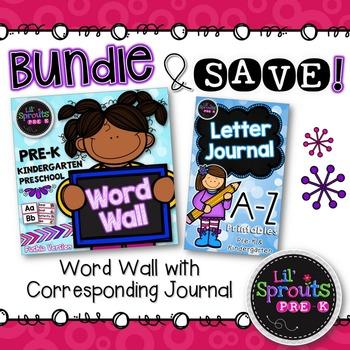 Letter Journal & Word Wall Classroom Bundle