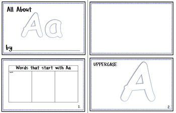 Letter Journals Set A-Z