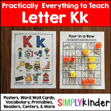 Letter K | Alphabet Printables and Centers