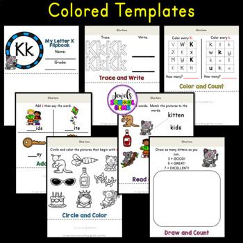Letter K Alphabet Flip Book (Alphabet Interactive Notebook Activities)