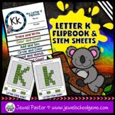 Letter K Alphabet Flip Book (Alphabet Interactive Notebook