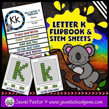 Letter K Alphabet Interactive Notebook Activities Flipbook