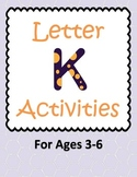 Letter K Activities- 46 Pages! {Common Core}