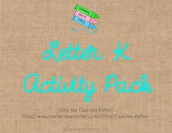 Letter K Activity Pack