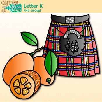Letter K Alphabet Clip Art {Teach Phonics, Recognition, and Identification}