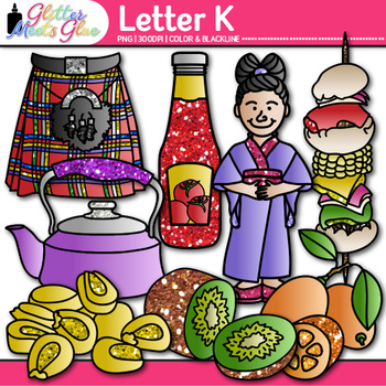 Letter K Alphabet Clip Art {Teach Phonics, Recognition, an