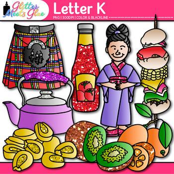 Letter K Alphabet Clip Art {Teach Phonics, Recognition, and Identification}