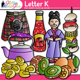Letter K Alphabet Clip Art | Teach Phonics, Recognition, and Identification