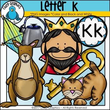 Letter K Alphabet Clip Art Set - Chirp Graphics