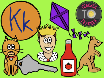 Letter K - Alphabet Clipart {TeacherToTeacher Clipart}