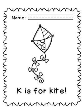 Letter K Alphabet Packet