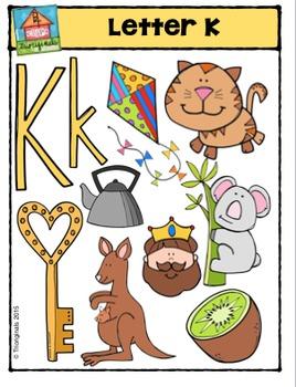 Letter K Alphabet Pictures {P4 Clips Trioriginals Digital
