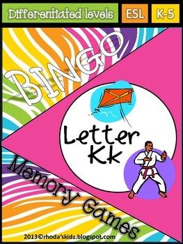 Letter K Bingo