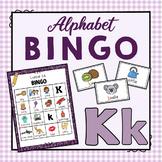 Letter K Bingo Game