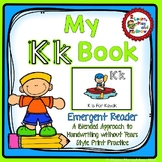 Letter K Book - Learn and Write Letters -  Handwriting Without Tears Style