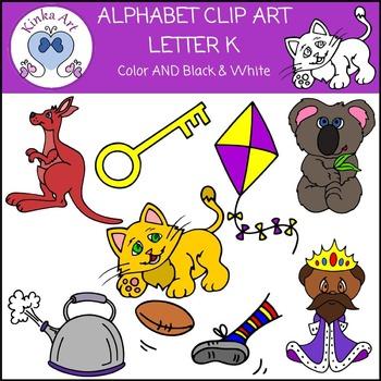 Letter K Clip Art {Beginning Sounds} Alphabet